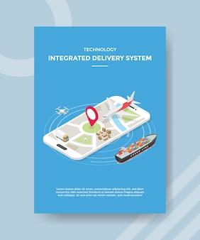 Sistema de entrega integrado de tecnologia caixa de localização do ponteiro do avião do caminhão