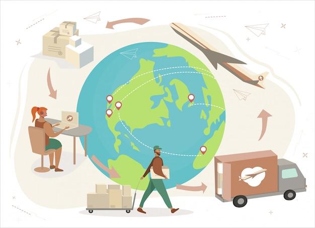 Sistema de entrega mundial.