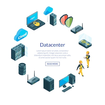 Sistema de ícones de data center i