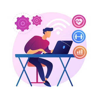 Sistema de monitoramento de saúde. software de rastreamento de estatísticas médicas, consulta médica online, serviço de telemedicina. exame e consultoria à distância.
