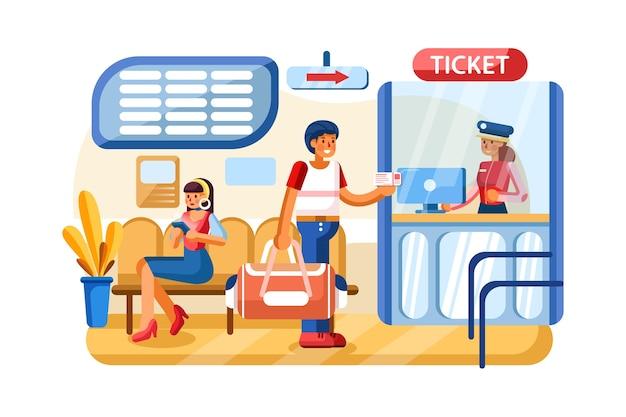 Sistema de pagamento na estação ferroviária