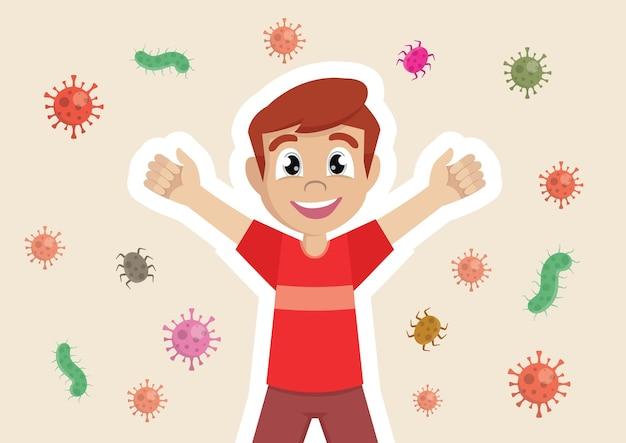 Sistema de proteção imunológica do menino
