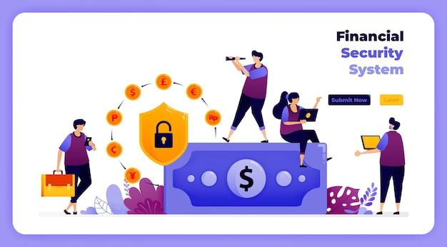 Sistema de segurança financeira em transações bancárias e digitais globais.