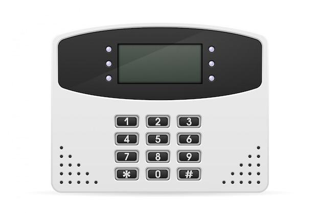 Sistema de segurança residencial do bloco de controle