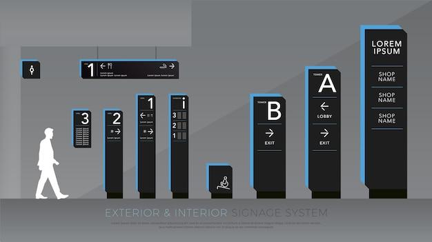 Sistema de sinalização de tráfego exterior e interior