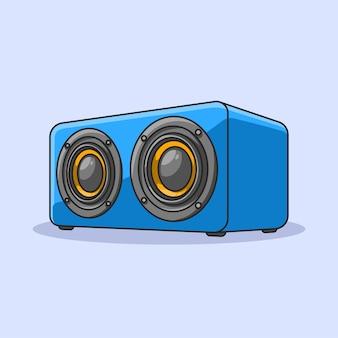 Sistema de som de alto-falante portátil facilmente editável