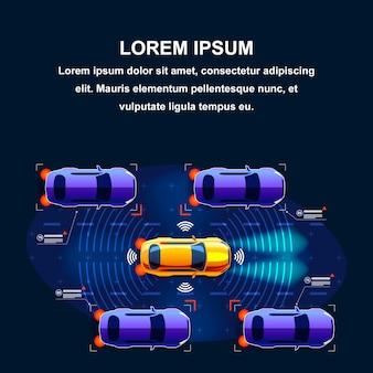 Sistema de trânsito futuro de carros