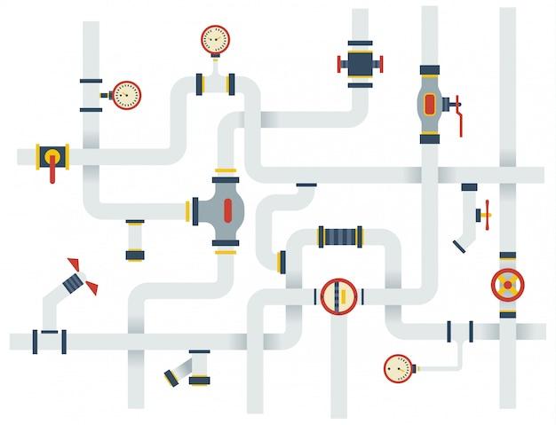 Sistema de tubos de ware vector estoque