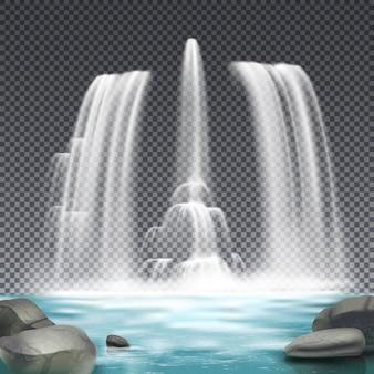 Sistema hidráulico de fonte realista