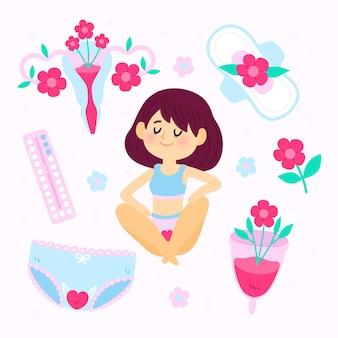 Sistema reprodutivo feminino ilustrado
