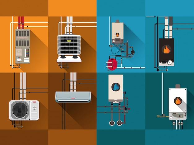 Sistemas de resfriamento e aquecimento