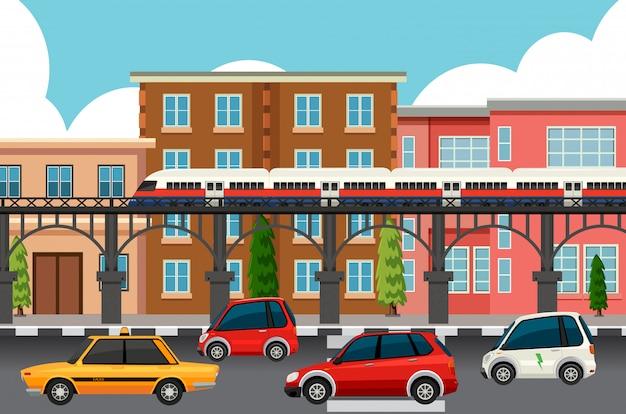 Sistemas de transporte modernos da cidade