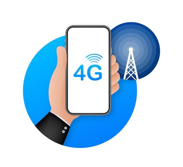 Sistemas sem fio de rede 4g e internet