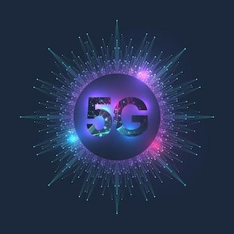 Sistemas sem fio de rede 5g e ilustração de internet