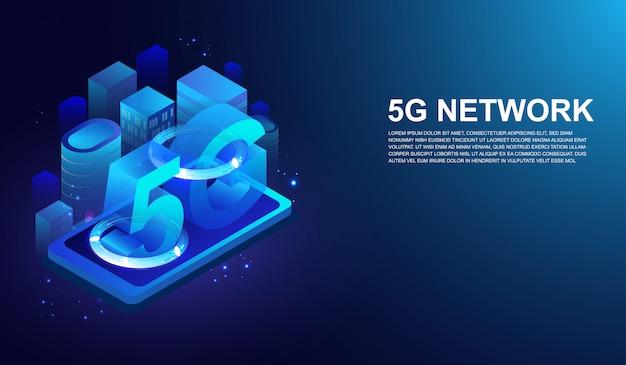 Sistemas sem fio de rede 5g próxima geração de internet