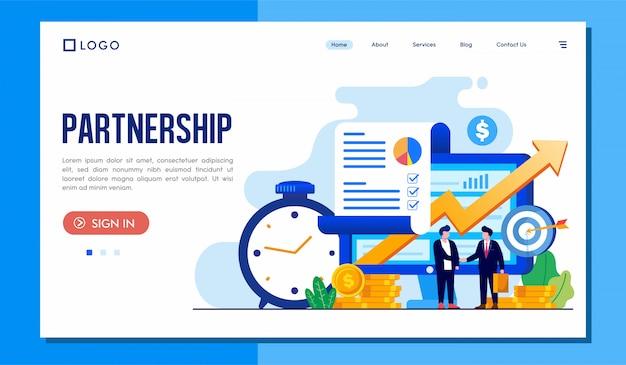 Site da página de destino da parceria