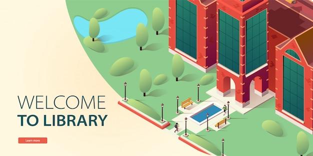 Site de destino, página inicial da biblioteca on-line