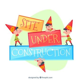 Site em construção com imps