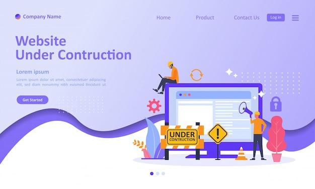Site está em construção landing page