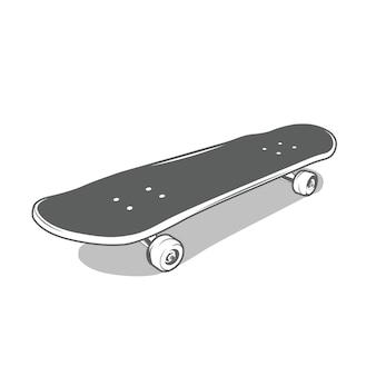 Skate em estilo monocromático