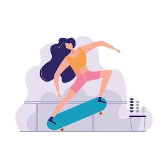 Skatebord trick skatepark