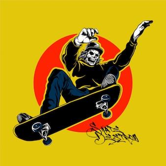 Skater crânio no estilo