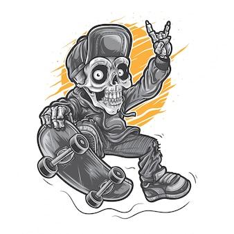Skater skull boy