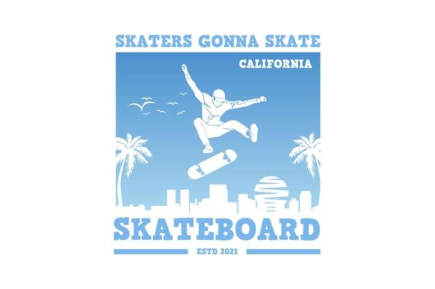 .skaters vão patinar, projetar estilo retro elegante.