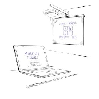 Sketch modelo educacional de negócios