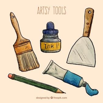 Sketches artística ferramentas