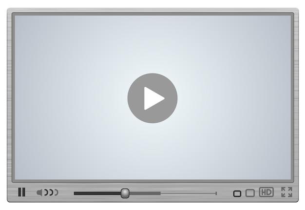 Skin para player de vídeo com superfície metálica