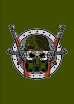 Skull army badge