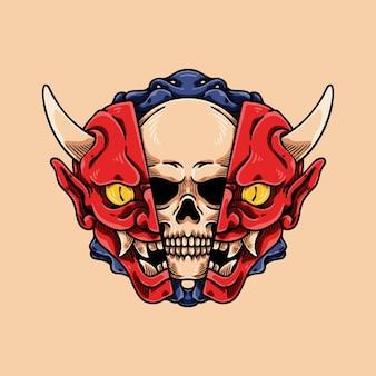 Skull inside oni