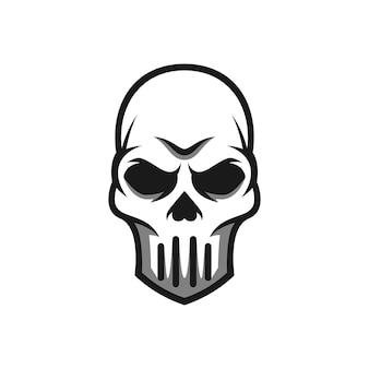 Skull mascot design vector