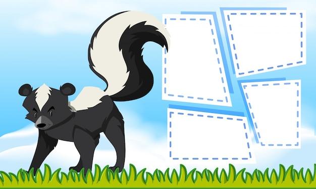 Skunk no modelo de nota