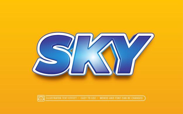 Sky - estilo de efeito de texto editável