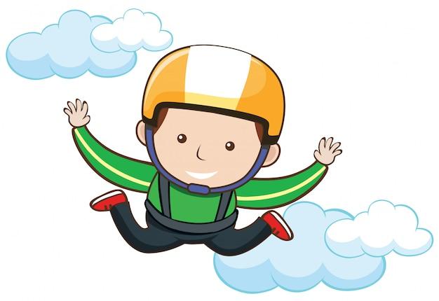 Skydiving grátis no céu