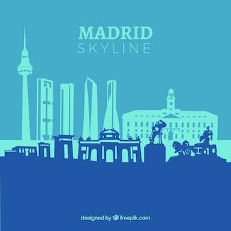 Skyline azul de madrid