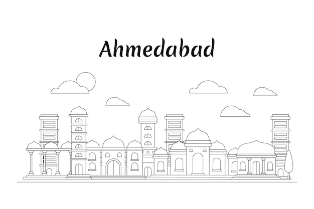 Skyline de ahmedabad linear