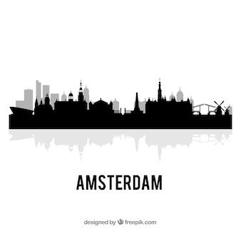 Skyline de amsterdã