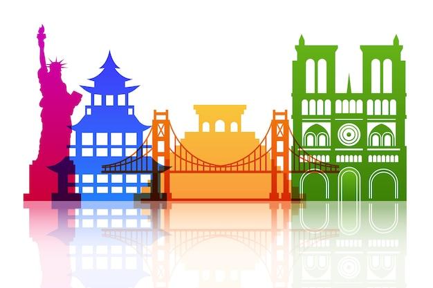 Skyline de marcos coloridos