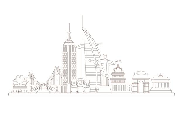 Skyline de marcos de contorno
