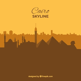 Skyline do cairo, egito