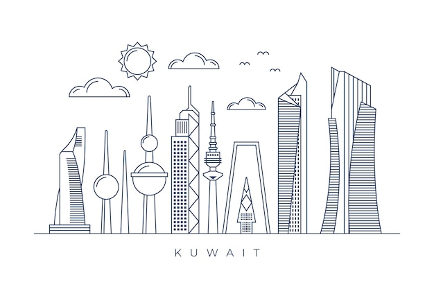 Skyline do kuwait linear