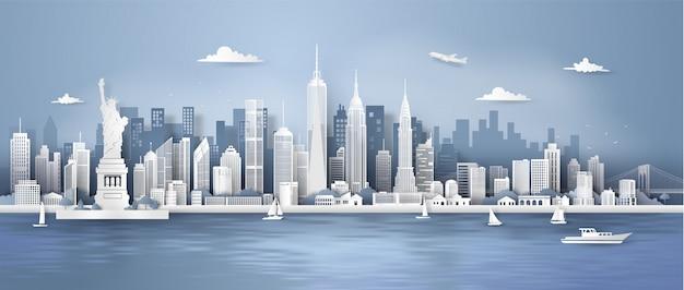 Skyline do panorama da cidade de nova york