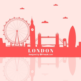 Skyline vermelho de londres