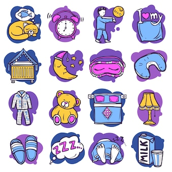 Sleep time icons
