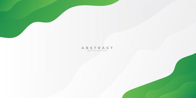 Slide apresentação onda verde e cinza de fundo