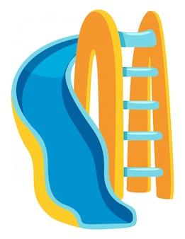 Slide azul e amarelo
