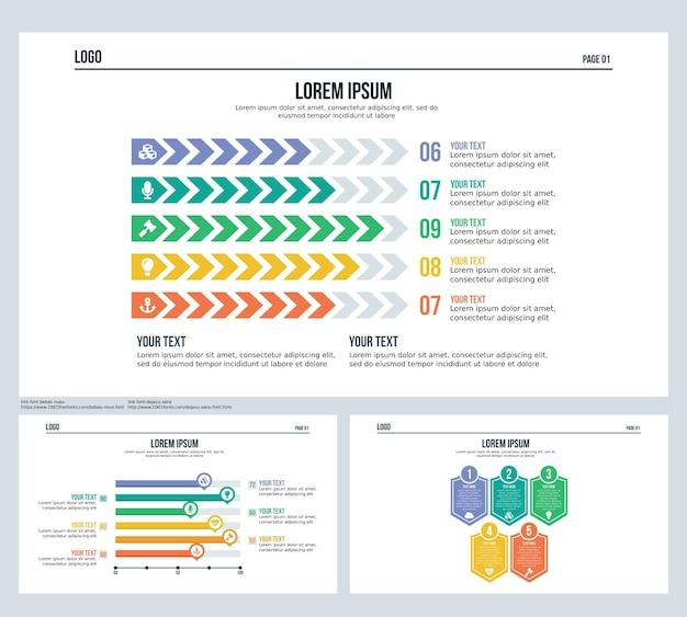 Slide da barra de seta apresentação do slide e modelo de powerpoint